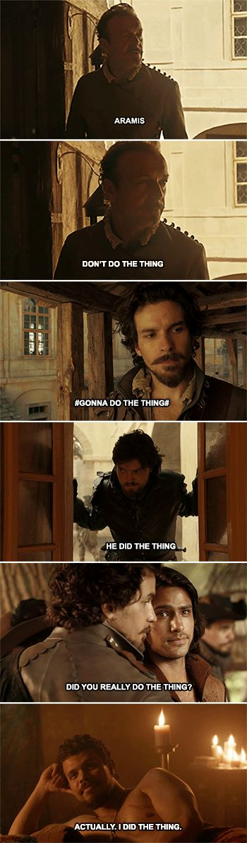 OKAY SO. Aramis and Porthos from BBC's The Muskateer's are /so/ Veikko and Wilde. which means...Aramis = Vei. Porthos = Kaarle...THEY NEED AN ATHOS.