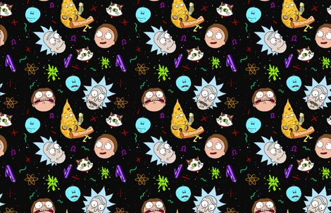 Wallpaper Hd Floral Rick And Morty Fabric By Tannenbaum On Spoonflower