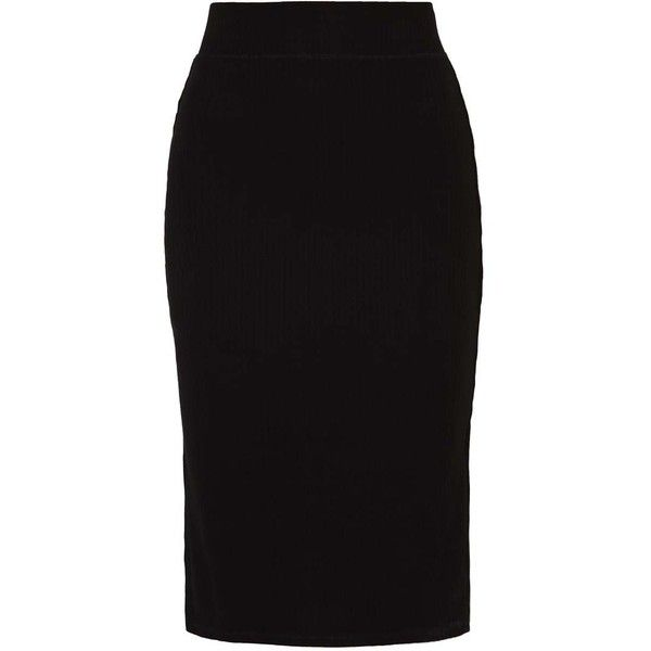 Even&Odd Blyantnederdel pencil skirts black ❤ liked on Polyvore featuring skirts, pencil skirt and knee length pencil skirt