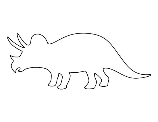 dinosaur templates to print - triceratops pattern use the printable pattern for crafts