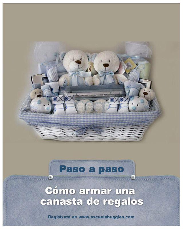 te animas a armar la canasta para los regalos de tu babyshower