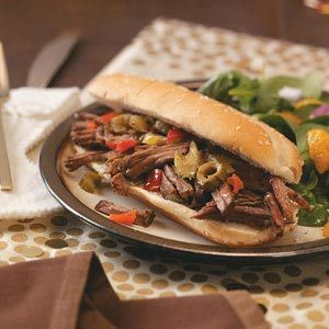 Chicago-Style Beef Sandwiches Recipe from Taste of Home