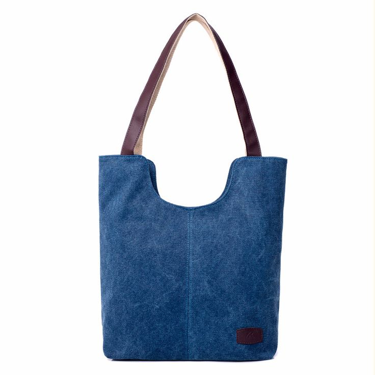 Large Casual Canvas Tote Bag