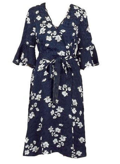 NEW MONSOON ANNA PRINT FLORAL JACQUARD DRESS 8 to 22 RRP £75