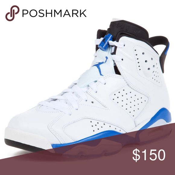Jordan VI white/Blue Brand new in Size 9 1/2 Jordan Shoes Sneakers