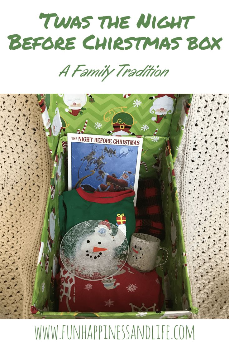 Twas the Night Before Christmas Box is a terrific family tradition that helps the kids get to bed, look nice in the morning and kick off Christmas day with JOY!