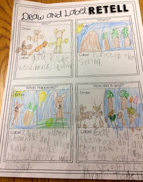 A Day in First Grade - Reading Comprehension and Writing Skills