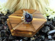 925 Sterling Silver Amethyst Gemstone Ring