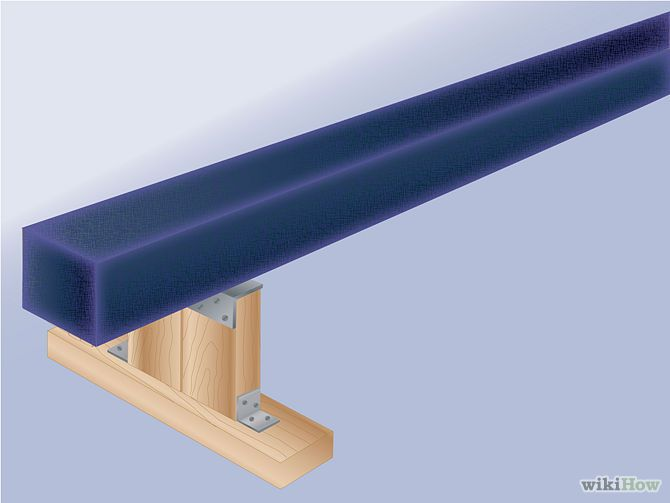 How To Make a Gymnastic Balance Beam Tutorial Instructions with Supply List and Photos of Each Step