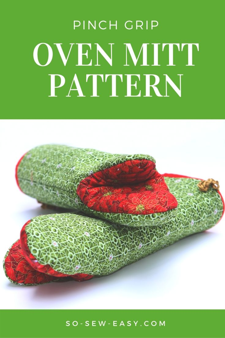 Pinch grip oven mitts easy pattern and tutorial. #freepattern #sewingtutorial #soseweasy