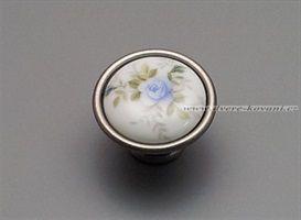 porcelanova-uchytka-knopka-35mm-modra-růze-iii.-88-povrch-starostribrny-19