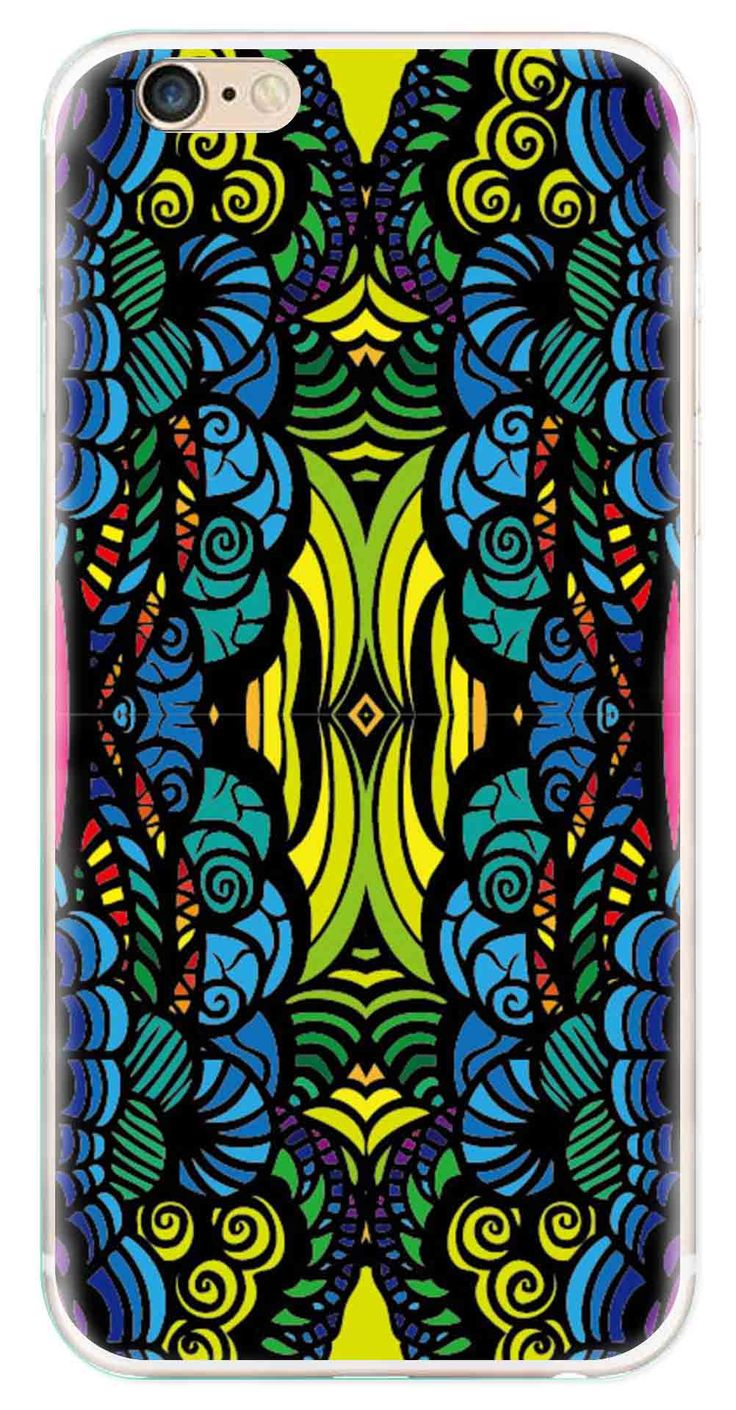 Whatskin DIY Style Colored Painting Series 09 Clear Back Cover for iphone 6
