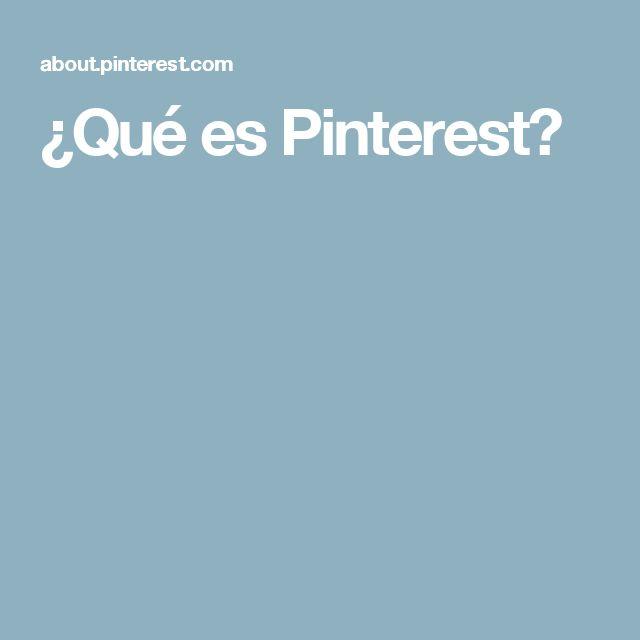 ¿Qué es Pinterest?