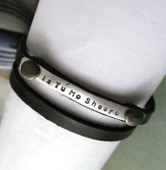 You Are My True Love in Irish Gaelic  Sterling by SevenTreeRoad
