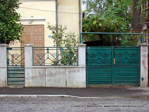 Art Deco style gates and fence, Bucharest