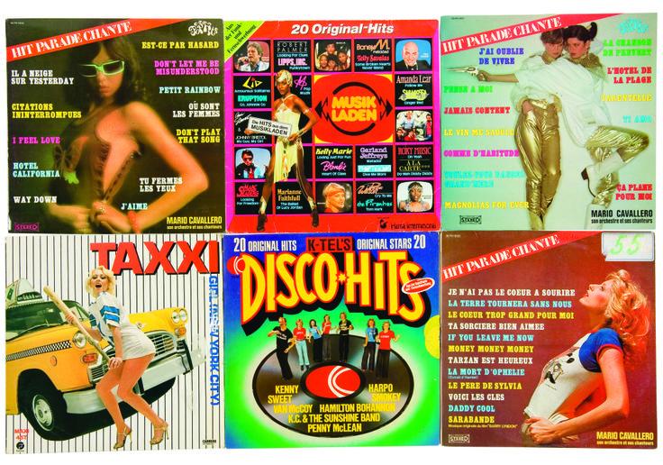 Les pochettes de disques DISCO-HITS, des années quatre-vingt, collection privée © Solo-Mâtine