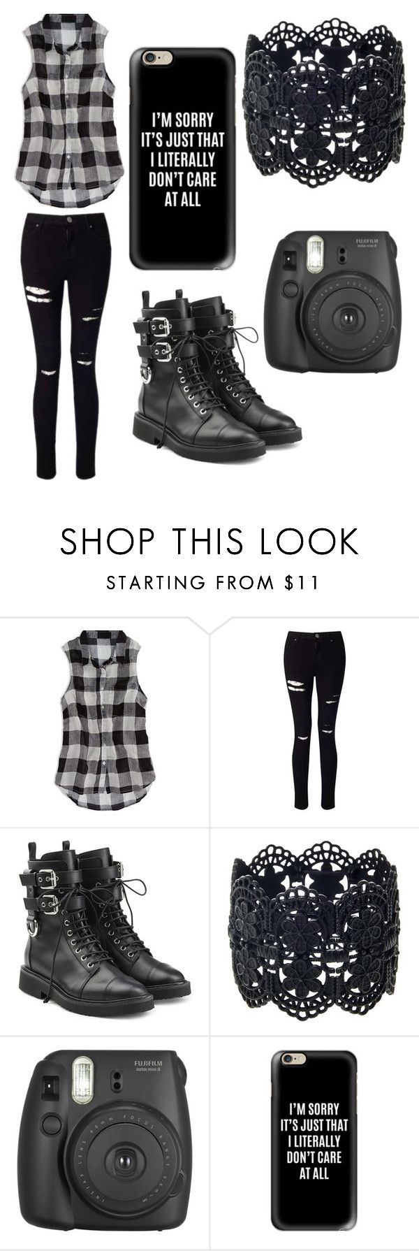 """""""Don't mess around"""" by kayla-allaire on Polyvore featuring American Eagle Outfitters, Miss Selfridge, Giuseppe Zanotti, Fujifilm and Casetify"""