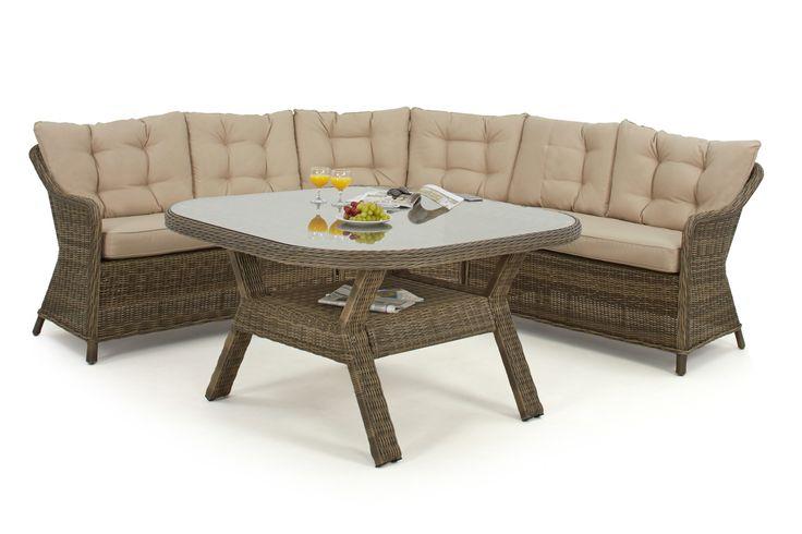 Maze Rattan - Winchester Round Corner Dining Set