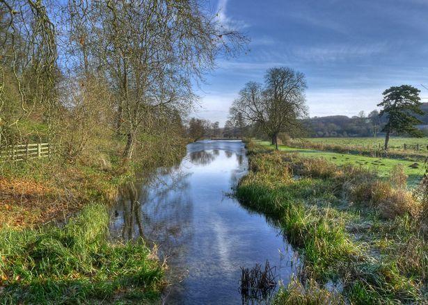 The River Chess near Saratt in Hertfordshire