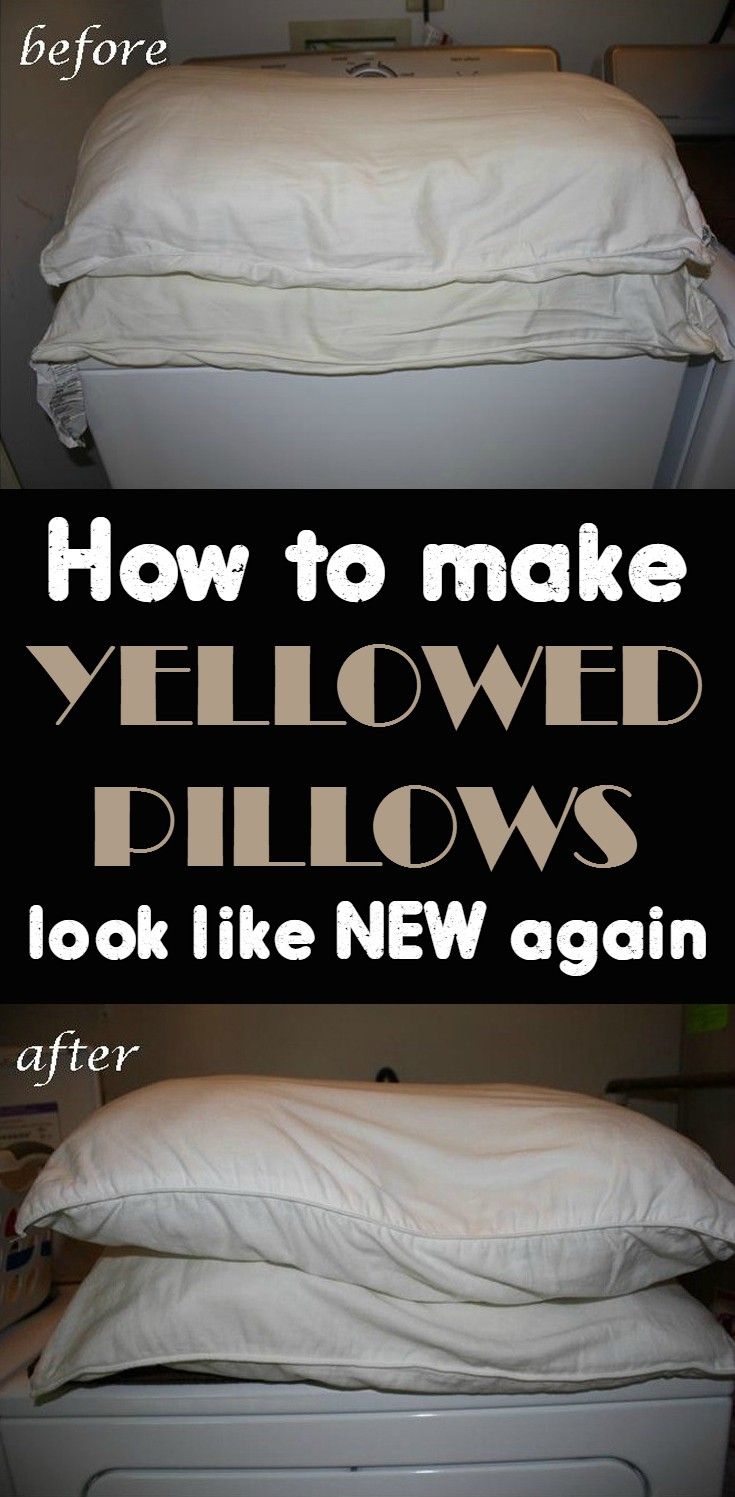 How to make yellowed pillows look like new again - CleaningInstructor.com