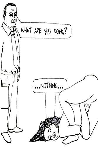 Yoga Joke: What are you doing?… Nothing… (yoga fun, humour & laughter) ~ #yogafun #yogacartoon #yogahumour #yoga