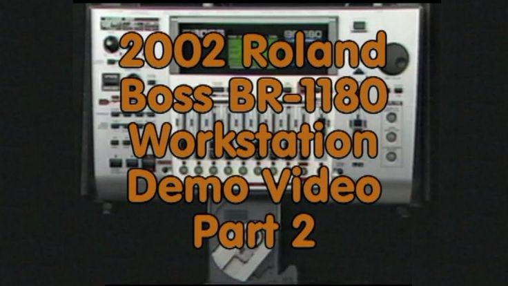 2002 Roland Boss BR-1180 Workstation Demo Video Part 2