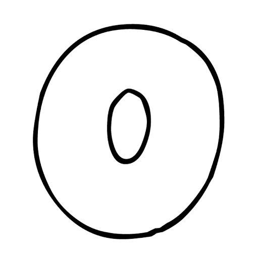 Bubble Letter O | Letter | Pinterest