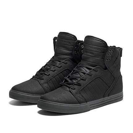 SUPRA SKYTOP Shoe | BLACK - GREY | Official SUPRA Footwear Site