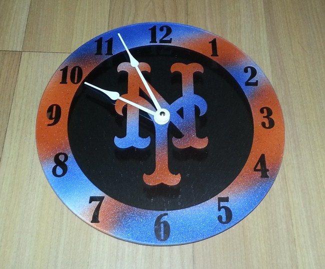 New York Mets Clock Mirror By GlassEleganceER On Etsy