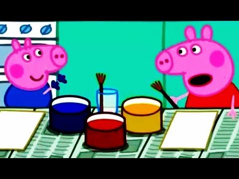 Peppa Pig Painting Episodes Compilation New 2016 Peppa Pig English - YouTube