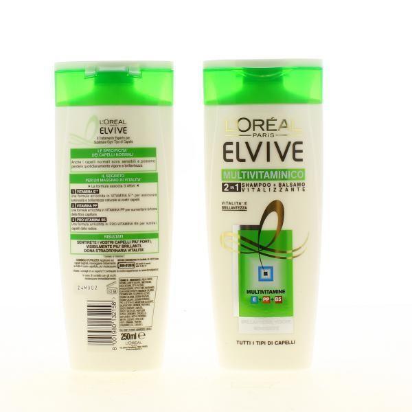 Elvive Shampoo 250 Multivit. 2In1 Prodotti Per Capelli