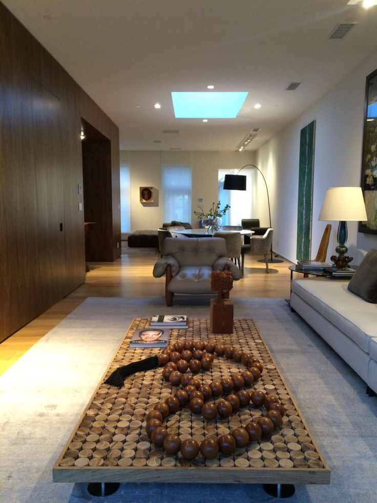 #SOFIA #coffetable in solid teka wood in tha wonderfull apartment in New York by arch. Vanessa Lessa