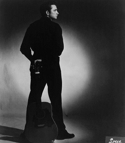The Man in Black — Johnny Cash, taken in Memphis, TN, ca. 1957.