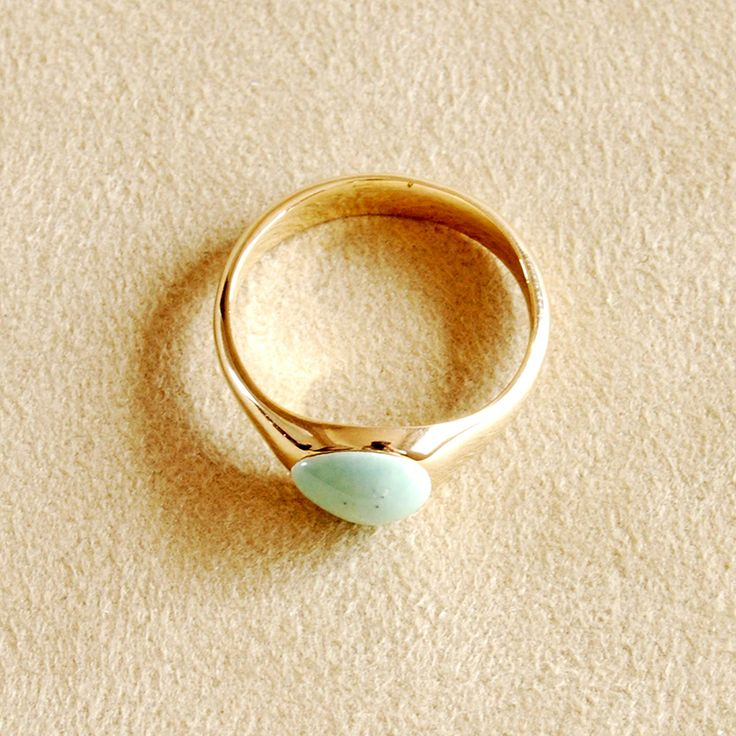 helena rohner ss porcelain goldplated ring in celadon color porcelain