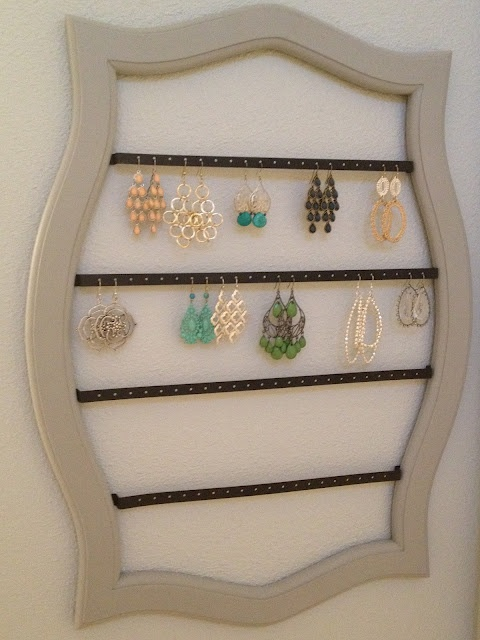 Earring Storage - allows you to display earrings to easily find the ones you want to wear!