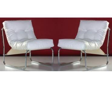 Fauteuil Cloudy - Wit - Kunstleer - Kokoon Design