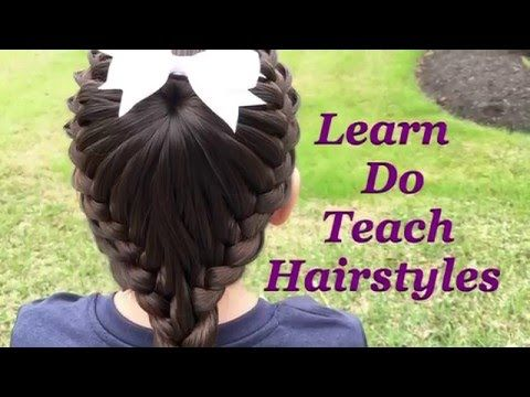 Coiffure cheveux long/mi long  Coiffure avec tresse facile à faire soi même - YouTube
