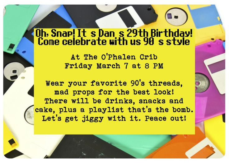90's party invite. | Throwback Theme | Pinterest | Parties, The o'jays and 90s party