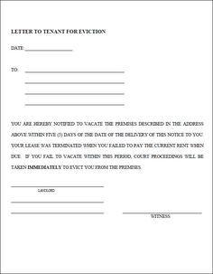 Eviction Notice Template PDF