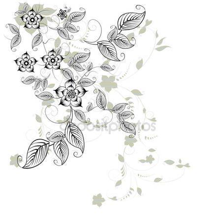 Elemento di disegno floreale — Illustrazione stock #5649942