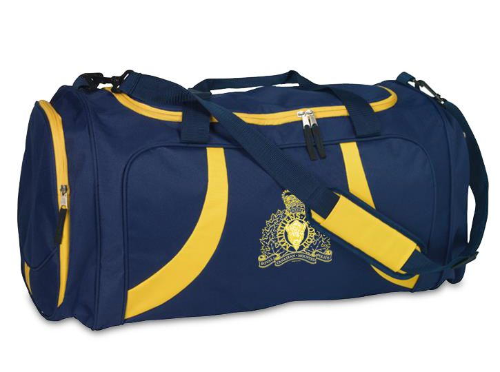 You asked for a bigger, better gym bag and we heard you! Introducing the RCMP Sport Bag featuring the current RCMP crest, embroidered in gold along with gold coloured zippered pockets on either side and on top, keeping the contents of your bag safe and secure.