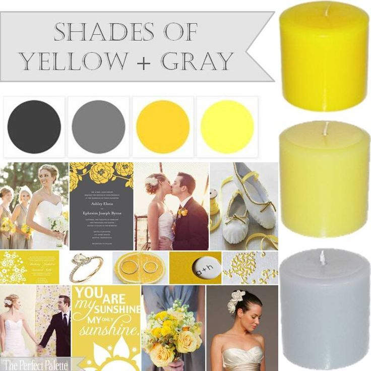 shades of yellow and gray http://www.theperfectpalette.com/search?updated-max=2011-07-12T10:34:00-04:00=15=198=false: Colors Combos, Grey Wedding, Gray Wedding, Yellow Gray, Colors Palettes, Wedding Colors, Colors Schemes, Wedding Planners, Gray Yellow