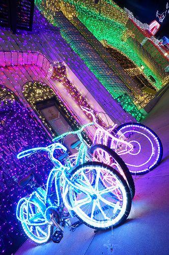 Disney's Hollywood Studios in Orlando Florida, Christmas lights.