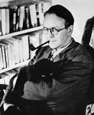 Raymond Chandler en la biblioteca