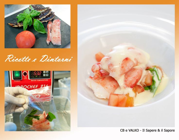 Zuppa tiepida di granchio reale, pomodoro e basilico #Idrochef #Cotturesottovuoto #Valko www.valko.com