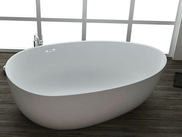 Kzoao Oval Freestanding Cast Stone Bath 1700mm