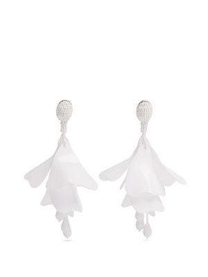 Impatiens clip-on earrings | Oscar De La Renta | MATCHESFASHION.COM UK