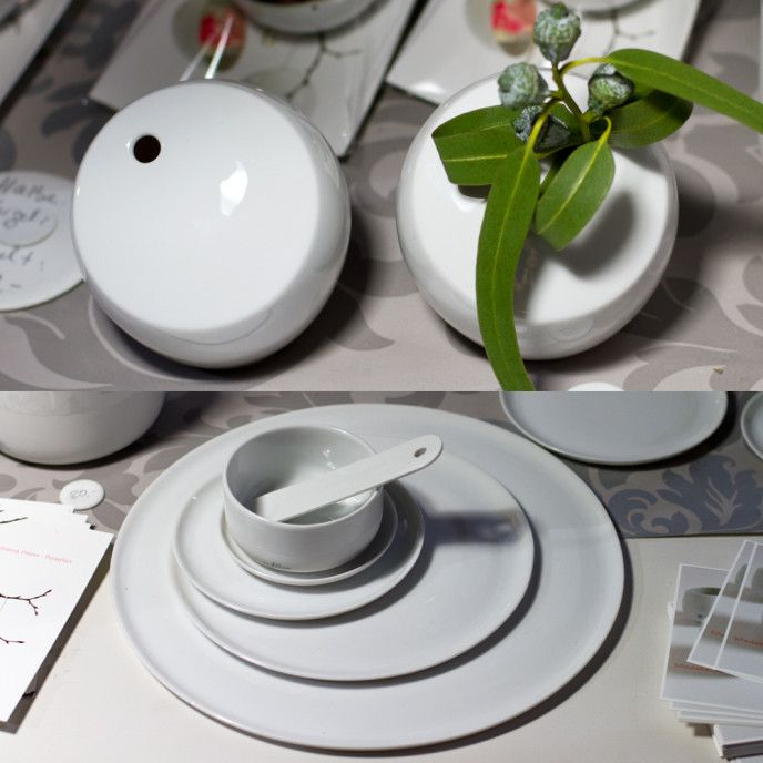 Plain White Porcelain Vases Crockery