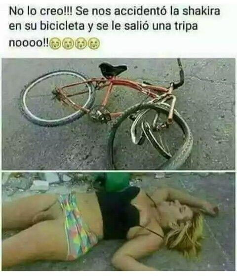 Shakira accidente