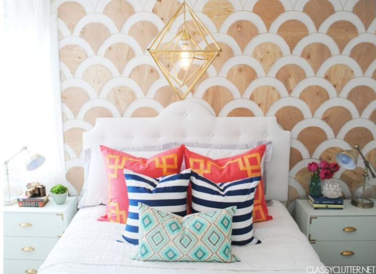Colorful Master Bedroom Makeover - www.classyclutter.net